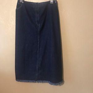 Style & co, long jean skirt size 24W cotton